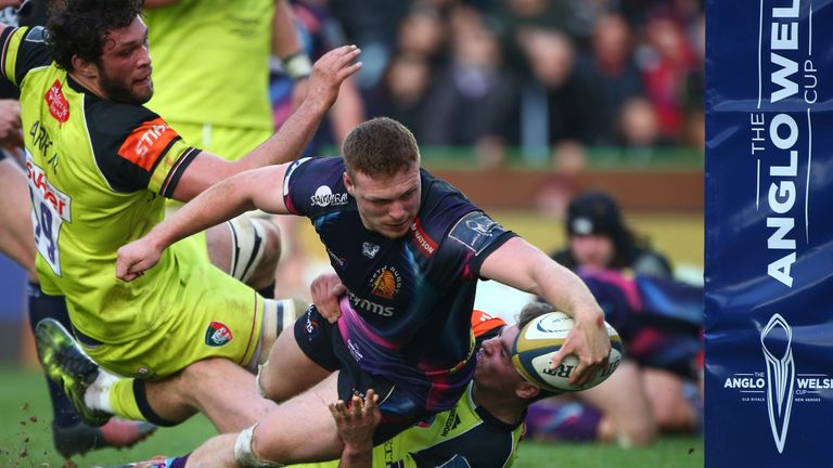 Sam Simmonds scores Exeter's second try