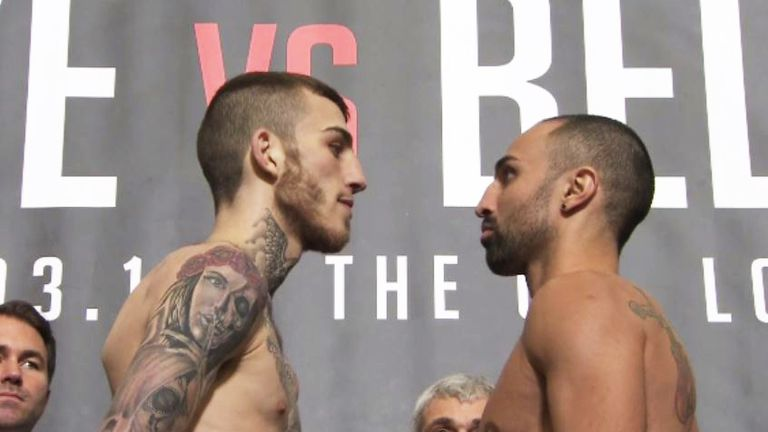 Sam Eggington and Paulie Malignaggi had to be separated on the stage