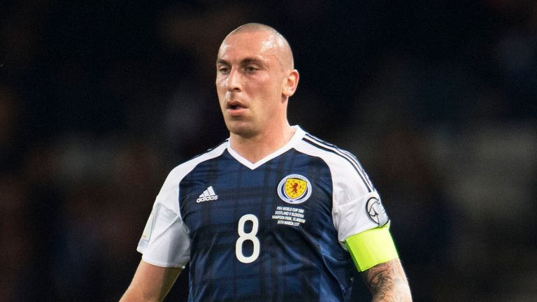 Scott Brown in action for Scotland in the 1-0 win over Slovenia