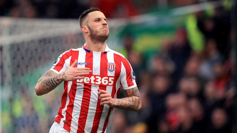 Marko Arnautovic  has scored 26 goals in over 100 appearances for Stoke