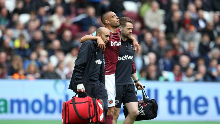 Winston Reid has undergone knee surgery and will miss the game