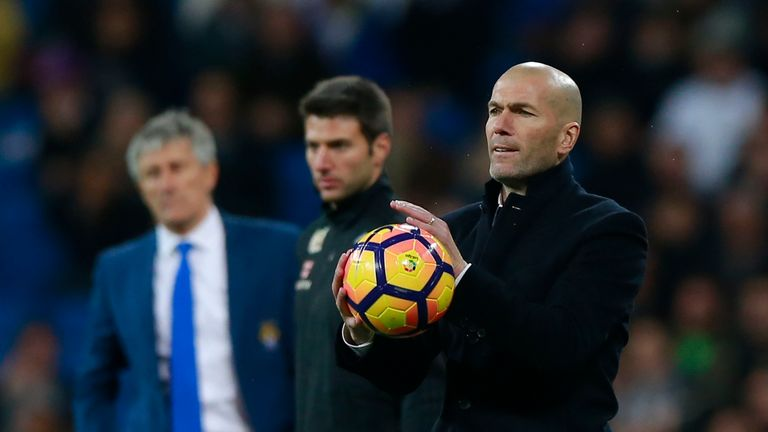 Zinedine Zidane's side have slipped into second place in the La Liga table