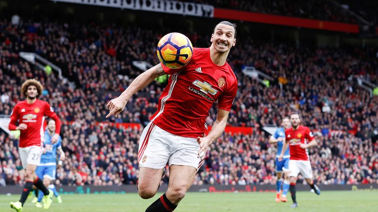 Man Utd forward Zlatan Ibrahimovic is expected to start in attack against Rostov