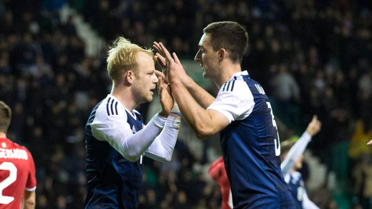 Steven Naismith scored the equaliser for Scotland at Easter Road