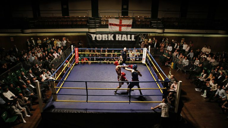 York Hall hosts blue-collar and amateur boxing too