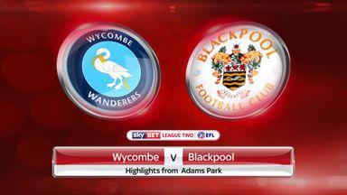 Wycombe 0-0 Blackpool