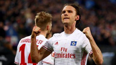 Albin Ekdal scored a crucial winning goal for Hamburg against Hertha Berlin