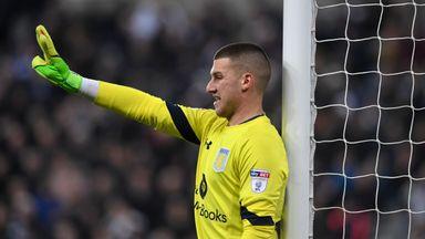 Sam Johnstone in action for Aston Villa