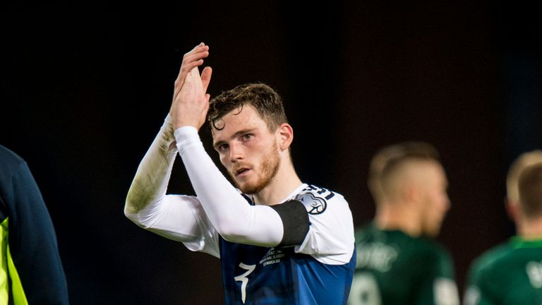 Scotland full-back Andrew Robertson is now hopeful of a positive result against England in June