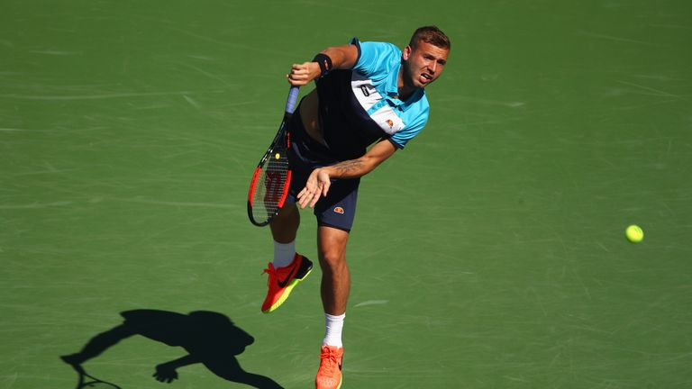 Dan Evans suffered a straight sets defeat to fourth seed Kei Nishikori at Indian Wells