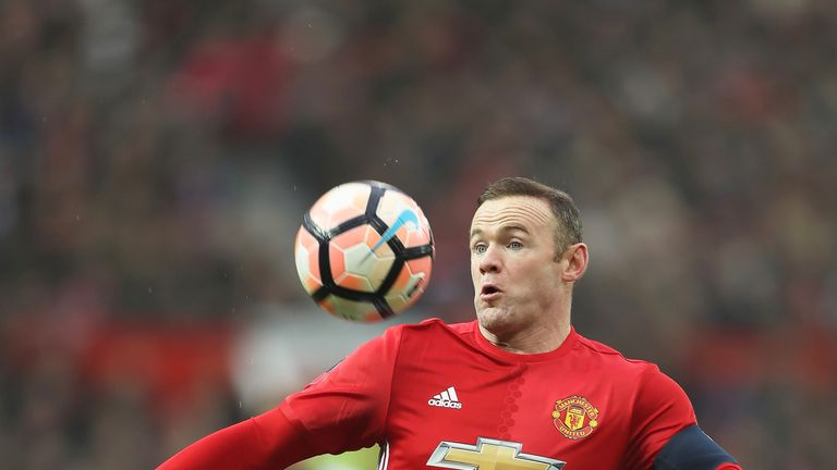Wayne Rooney in action during the FA Cup Third Round match between Manchester United and Reading