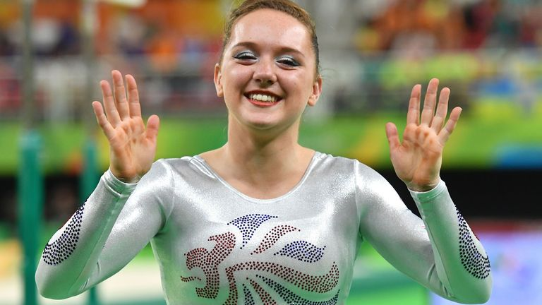 Amy Tinkler won bronze at the 2016 Olympics in Rio
