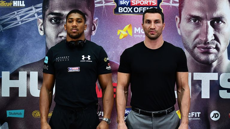 Anthony Joshua will share the ring with Wladimir Klitschko at Wembley on April 29, live on Sky Sports Box Office