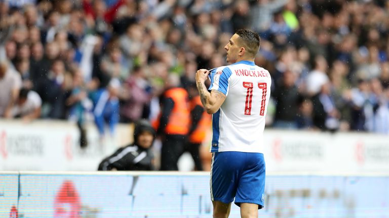 Brighton & Hove Albion's Anthony Knockaert celebrates scoring his side's first goal