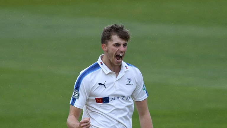In-form Yorkshire bowler Ben Coad has been rewarded for his excellent form