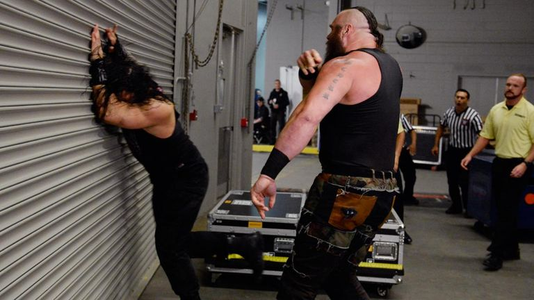 Watch WWE's Braun Strowman flip an ambulance with Roman Reigns inside