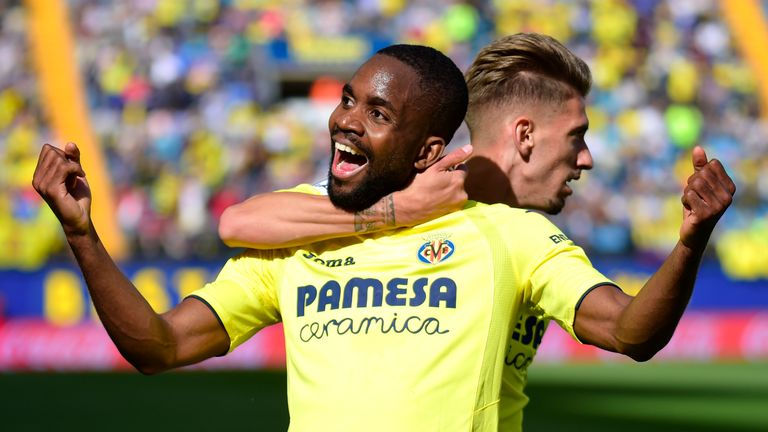 Cedric Bakambu scored twice for Villarreal on Sunday