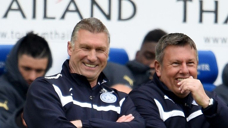 Former Leicester City manager Nigel Pearson (left) hopes Craig Shakespeare enjoys his time in charge