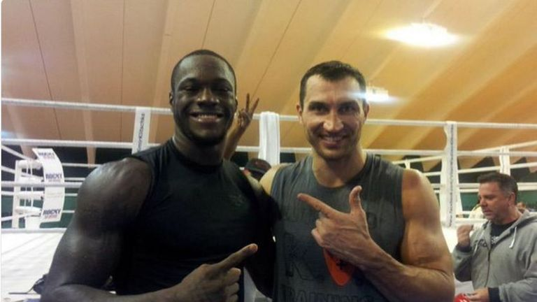 Deontay Wilder in Wladimir Klitschko's camp, October 2012 (@bronzebomber)