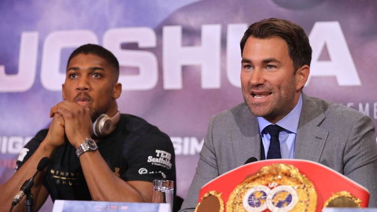 Eddie Hearn and Joshua have been in Las Vegas this summer