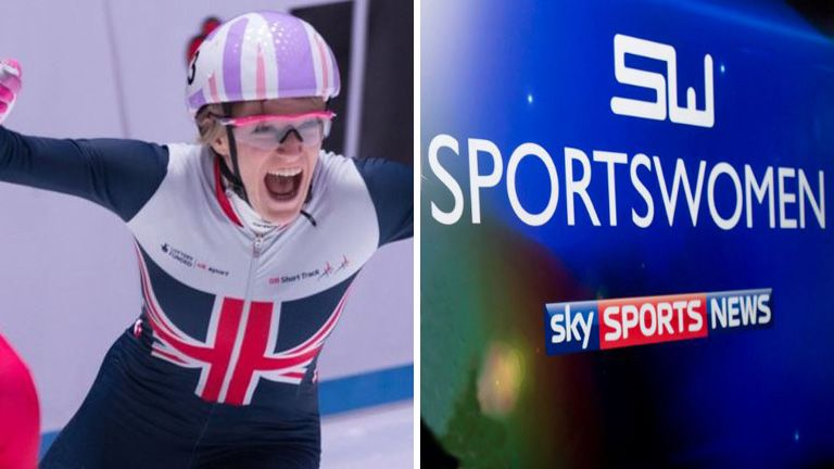 Elise Christie made the shortlist for March's Sportswomen award