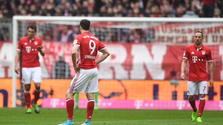 Lewandowski said he was unhappy with a perceived lack of support from the club