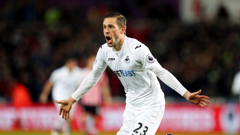 Swansea midfielder Gylfi Sigurdsson has attracted interest from Everton