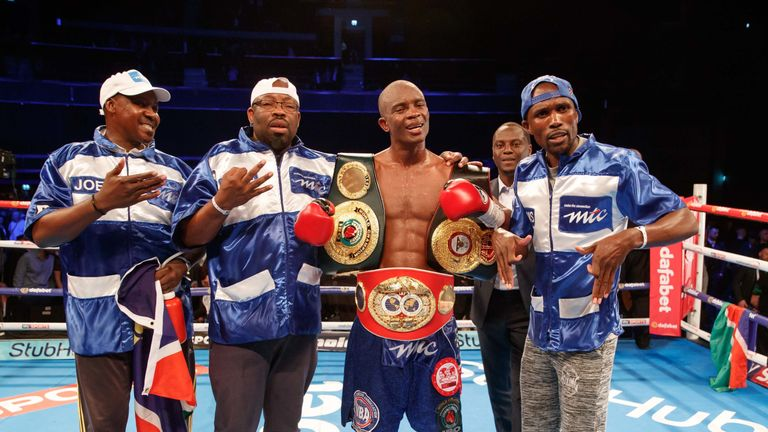 Julius Indongo won a unanimous decision points win to take the WBA title away from Burns