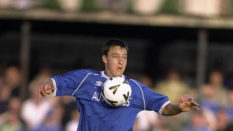 Terry was a teenager when he broke into the Chelsea first team in 1998