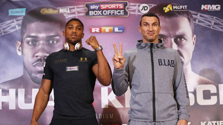 Joshua and Klitschko met at Sky Central in Thursday's press conference