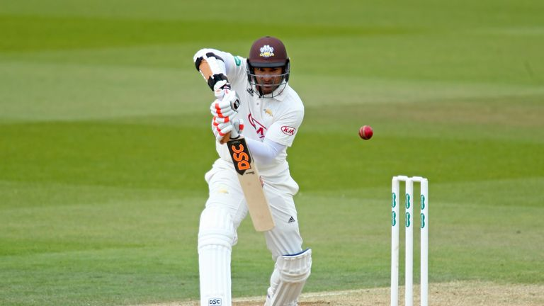 Kumar Sangakkara's century helped Surrey to 265-5 at the close against Middlesex