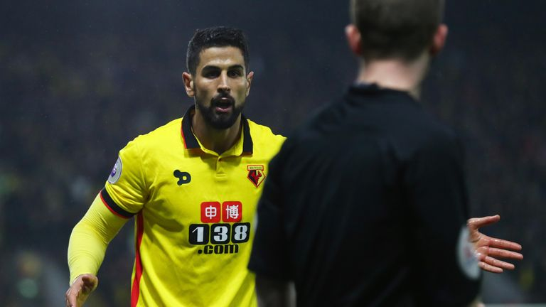 Miguel Britos is back from suspension for Watford