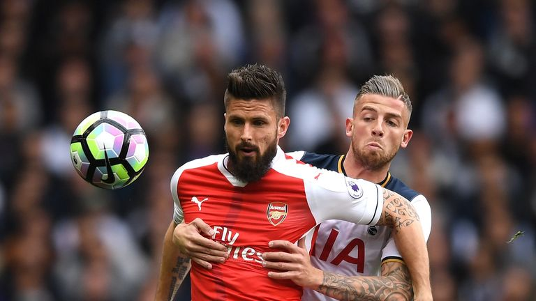Olivier Giroud (left) wants to play more games for Arsena next season