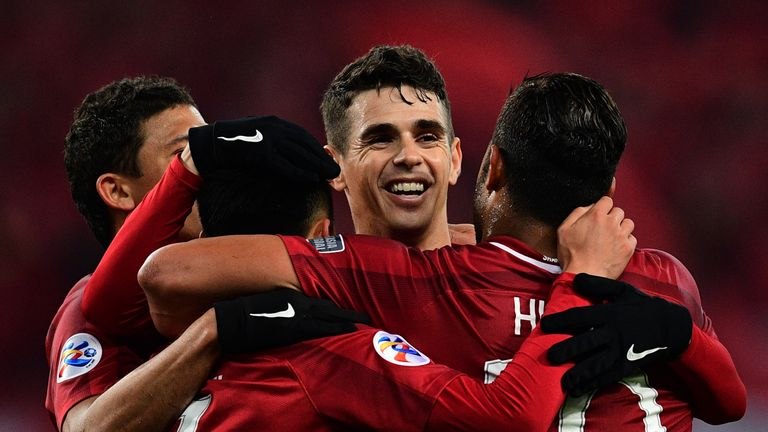 Oscar in action for Shanghai SIPG