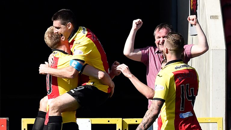 Partick Thistle skipper for the day Kris Doolan scored the only goal against Motherwell at Firhill