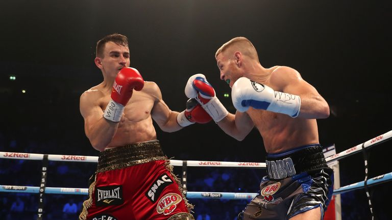 Terry Flanagan beat Petr Petrov to defend his WBO lightweight title fight in Manchester