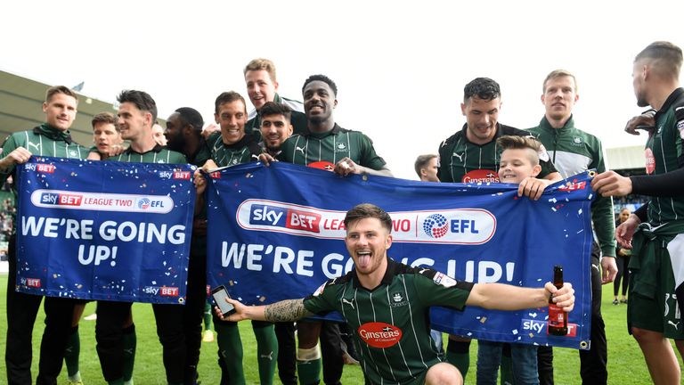 Plymouth Argyle have three players in the League Two team of the year