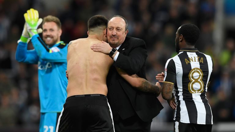 Rafa Benitez guided Newcastle back into the Premier League at the first time of asking