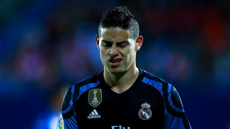 James Rodriguez did not make the squad for Real Madrid's Champions League victory