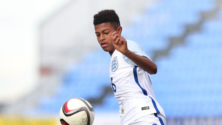 Rhian Brewster started as England's U17s lost on penalties to Spain