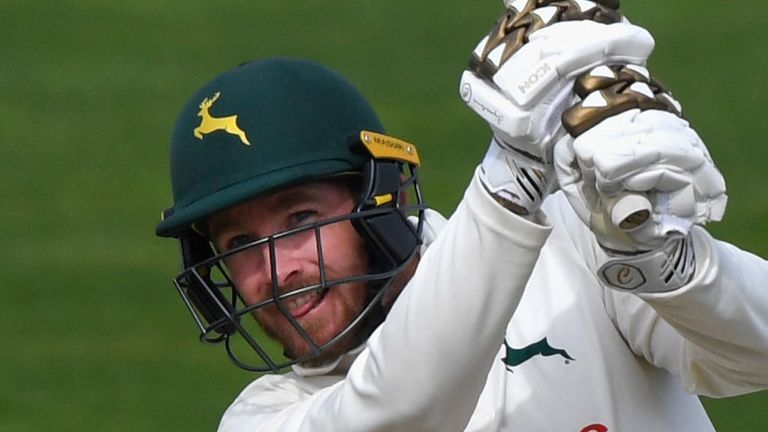 Nottinghamshire's Riki Wessels was merciless in his attacking strokeplay