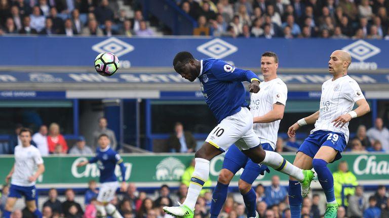 Romelu Lukaku's close-range header put Everton back on level terms