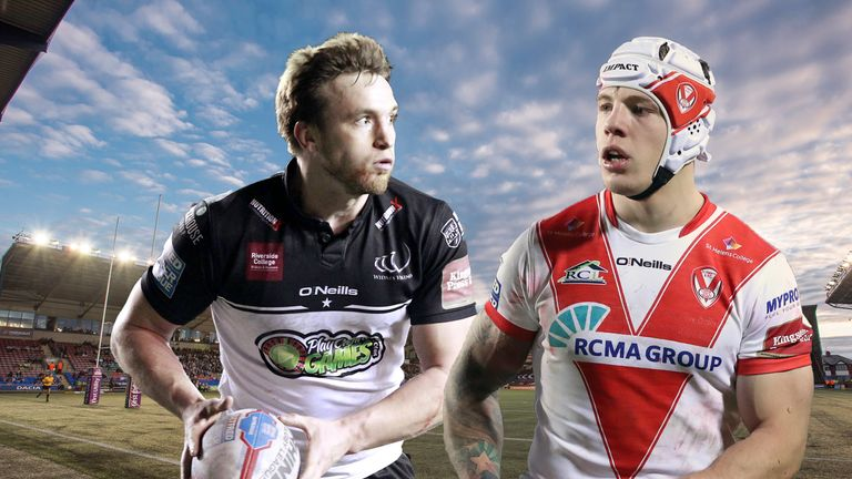 There is a mouth-watering battle between half-backs Joe Mellor and Theo Fages