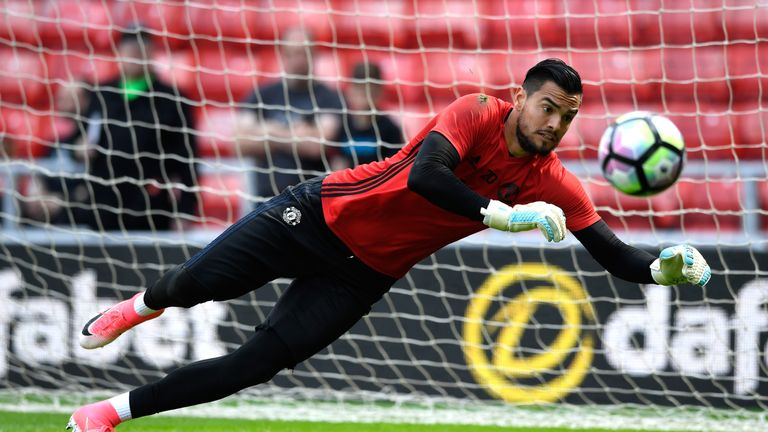 Sergio Romero started in place of David de Gea at the Stadium of Light