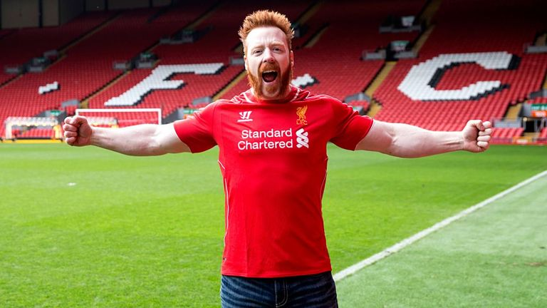 Sheamus was delighted to be given a tour around Anfield in 2015