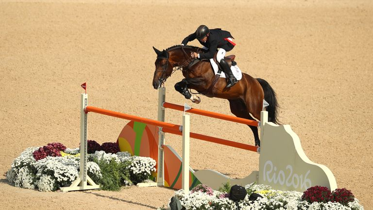 Skelton riding Big Star during the Equestrian Jumping Individual final