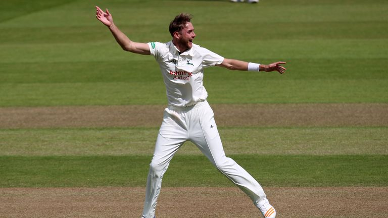 Stuart Broad took 2-40 as Nottinghamshire seized control