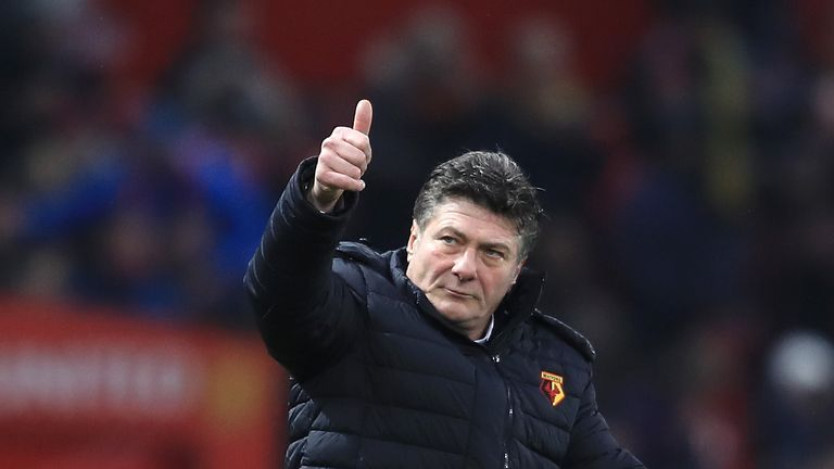 Walter Mazzarri is targeting a top-half finish in the Premier League for Watford