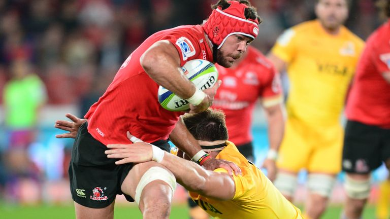 Warren Whiteley on the charge for the Lions