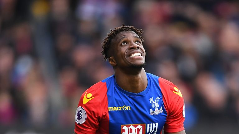 Wilfried Zaha has thanked the 'amazing' Crystal Palace fans after extending his contract at the club